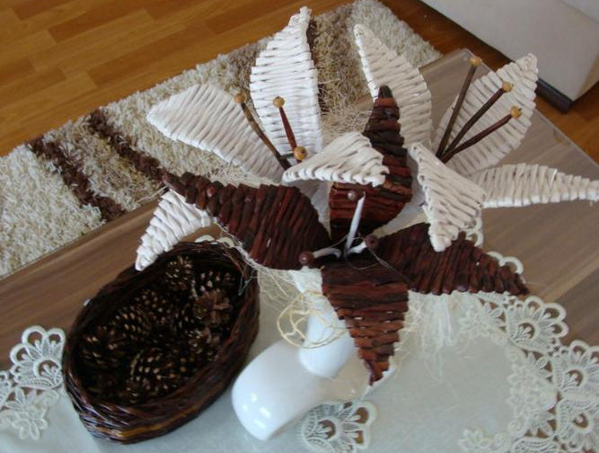 плетение из газет цветы (9) (667x504, 697Kb)