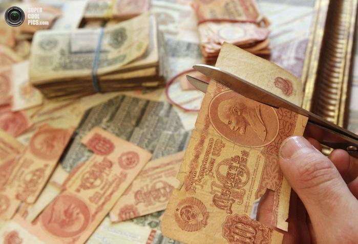картины из советских денег фото 3 (700x476, 103Kb)