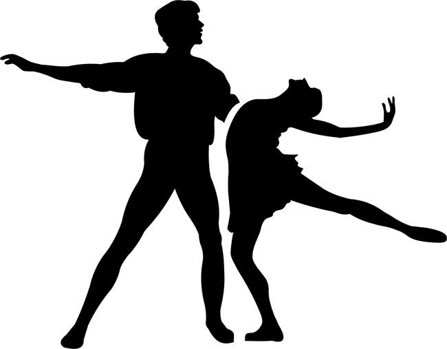 Силуэты балерин.