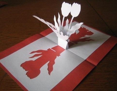 открытки своими руками фото к 8 марта