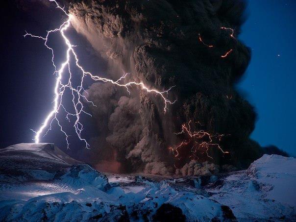 Извержение вулкана Эйяфьядлайёкудль, Исландия (604x453, 43Kb)