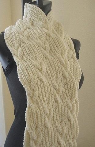 Схема для вязание шарфа взята