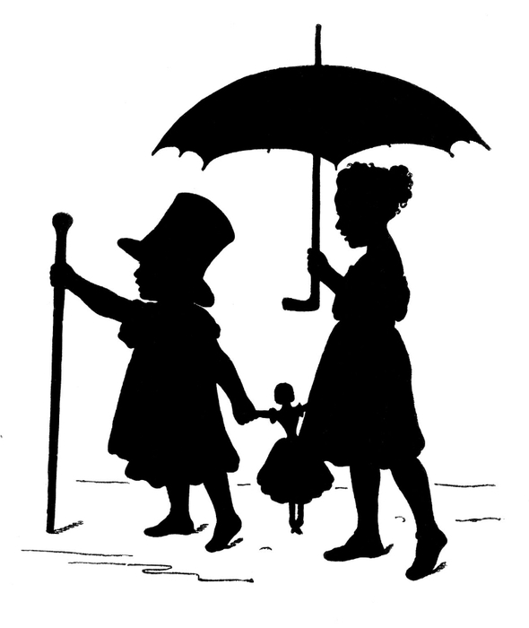 Victorian Clip Art  3 Hat Wearing Heads  Ladies  For