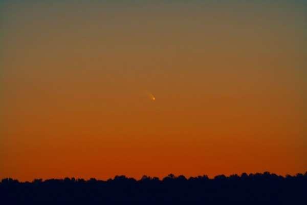 Яркую комету Панстаррс можно увидеть на небе