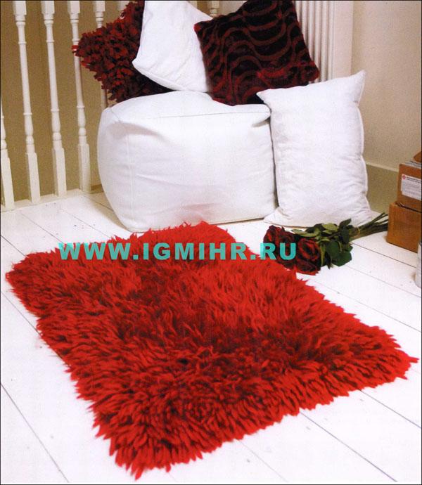Вязание красивых ковров их пушистой