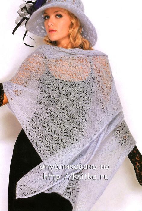 Вязание шарфа из мохера 7