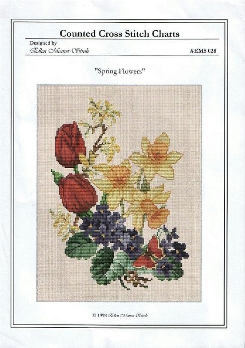 028 Spring Flowers (493x700, 373Kb)