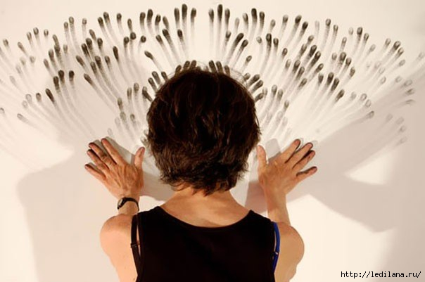 дизайн Декорирование стен пальцами (604x401, 93Kb)
