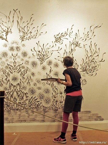 дизайн Декорирование стен пальцами2 (449x604, 172Kb)