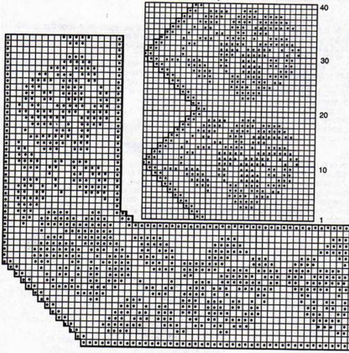 Филейное вязание бордюры 68