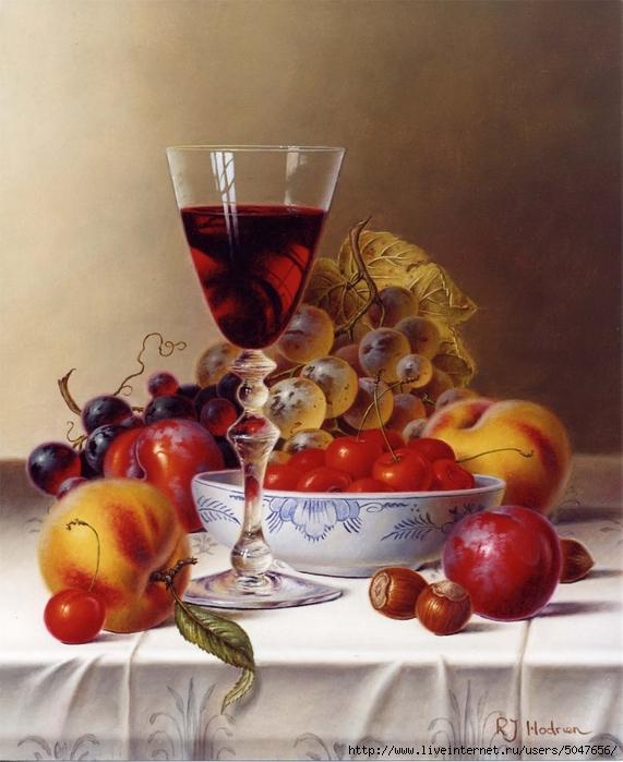 Roy Hodrien_картики для декупажа_натюрморты_фрукты_вино_15 (571x700, 285Kb)