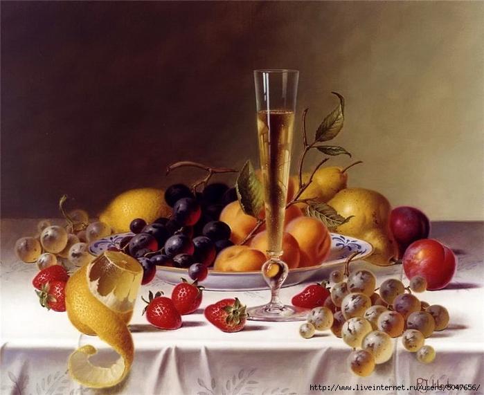 Roy Hodrien_картики для декупажа_натюрморты_фрукты_вино_03 (700x571, 252Kb)
