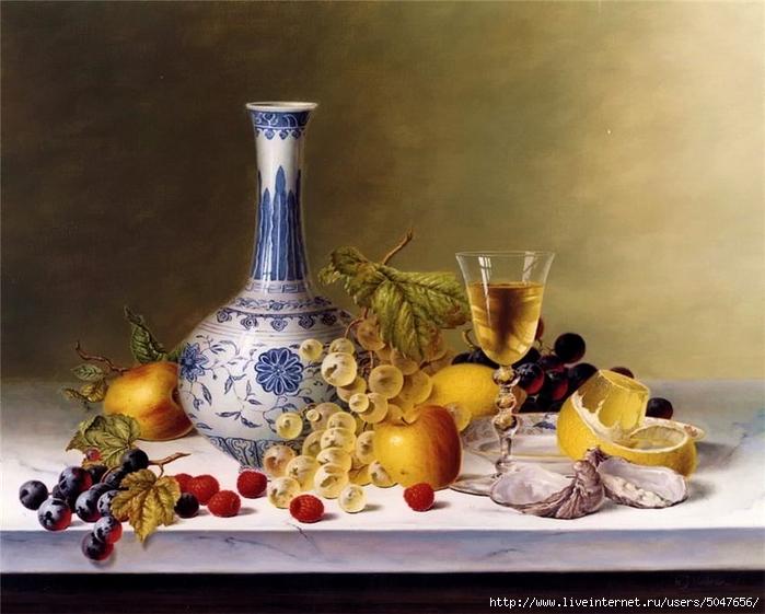 Roy Hodrien_картики для декупажа_натюрморты_фрукты_вино_01 (700x561, 252Kb)