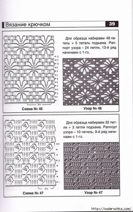 Вязание крючком схемы и описание для начинающих  298