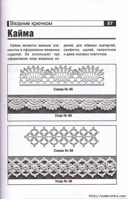 Вязания крючком кайма схемы 93