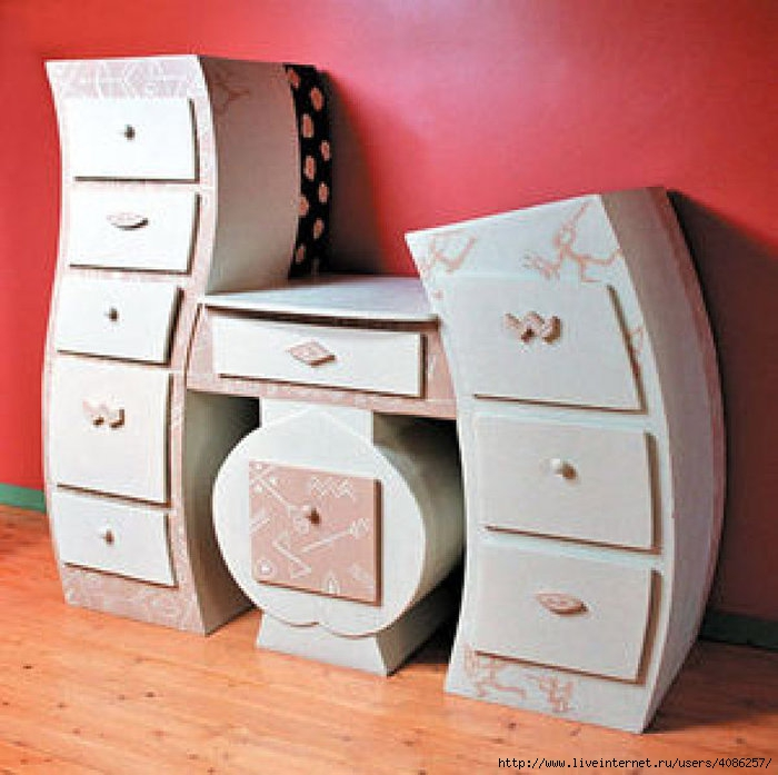 Как сделать маленький шкаф из бумаги