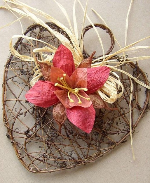 цветы и корзиночки из бумажного шпагата (1) (514x626, 227Kb)