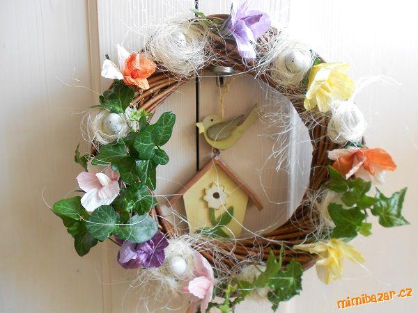 цветы и корзиночки из бумажного шпагата (11) (600x450, 51Kb)