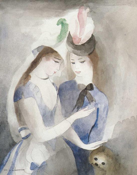 Marie-Laurencin-1928-vers-Deux-jeunes-filles-avec-un-chien (546x700, 86Kb)