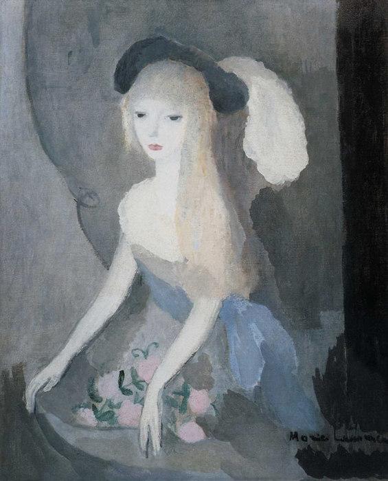 Marie-Laurencin-1915-La-jeune-fille-au-chapeau-noir-avec-une-plume-blanche (565x700, 83Kb)