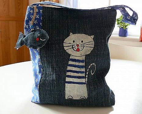 Кот из джинсы своими руками