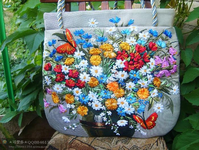 Рукоделие сумка с вышивкой