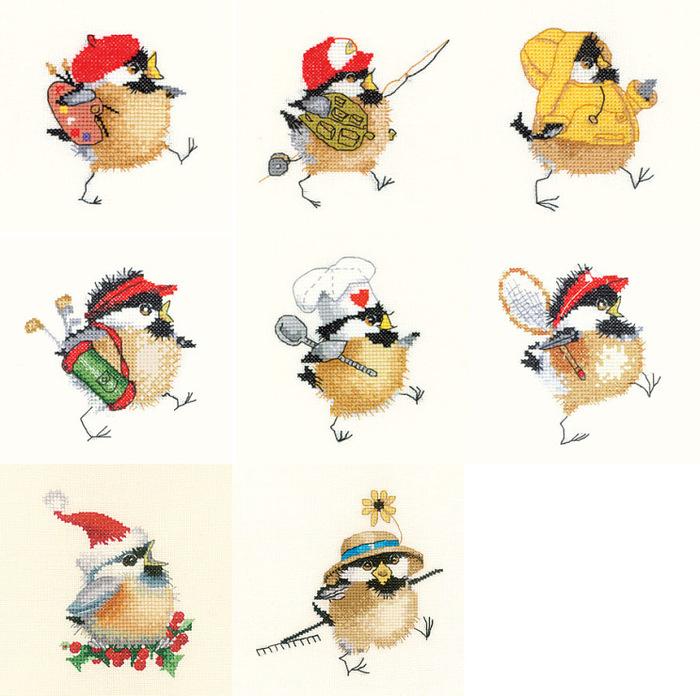 Птички-Heritage(вышивка