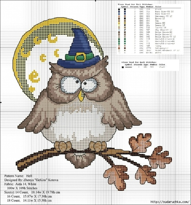 Northwind Owl/Полярная сова Dimensions схема для вышивки крестом.  (699x485, 85Kb).  Дизайн вышивки сделан с картины.