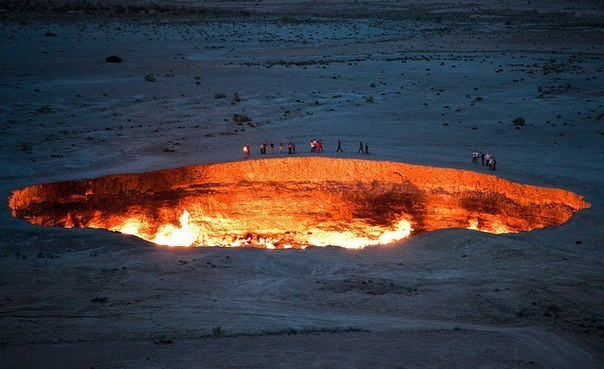 врата ада пустыня каракум (604x369, 56Kb)
