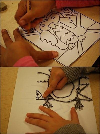 Как сделать нарисованным в