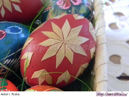 пасхальные яйца декор соломкой (1) (504x378, 147Kb)