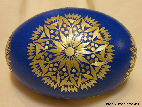 пасхальные яйца декор соломкой (3) (500x375, 138Kb)