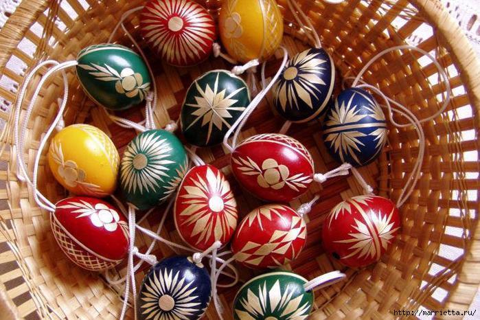 пасхальные яйца декор соломкой (6) (700x466, 236Kb)