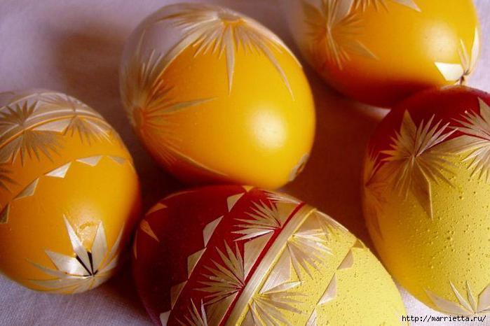 пасхальные яйца декор соломкой (9) (700x466, 137Kb)