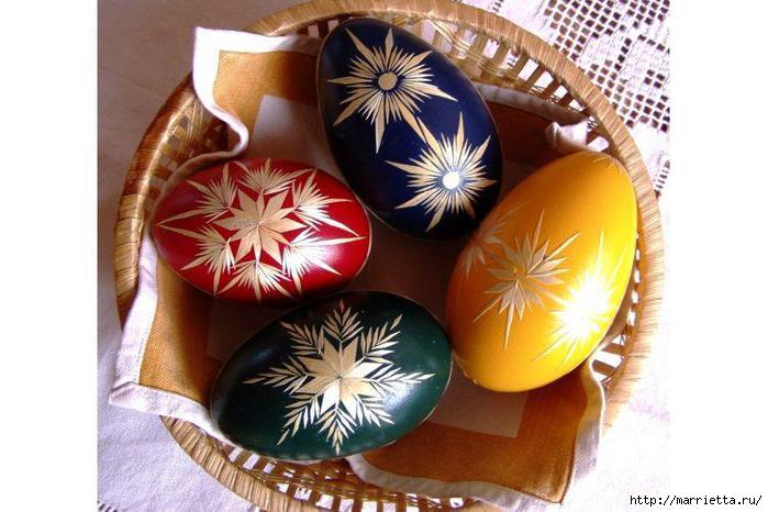 пасхальные яйца декор соломкой (11) (700x466, 157Kb)