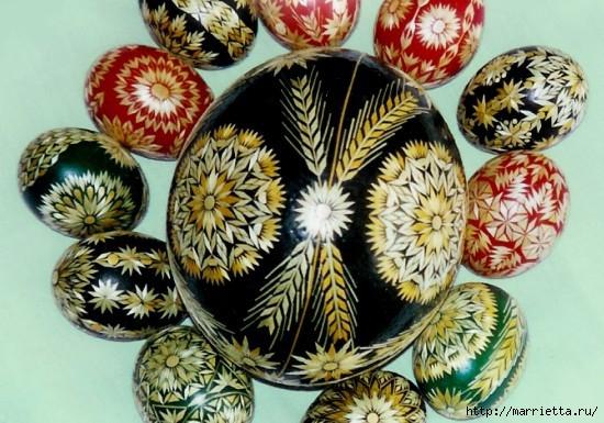 пасхальные яйца декор соломкой (15) (550x385, 181Kb)