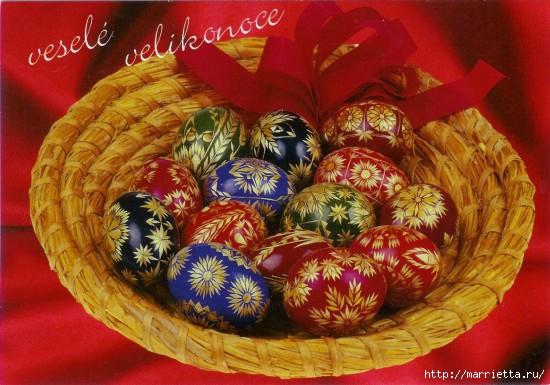 пасхальные яйца декор соломкой (17) (550x385, 168Kb)