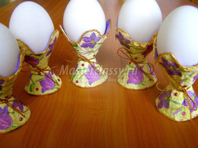 Яйца на подставки для пасхи своими руками