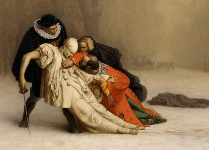 18 Жером, Жан-Леон (1824-1904). Дуэль после маскарада. 1857. фрагмент ТЕКСТ (700x503, 81Kb)