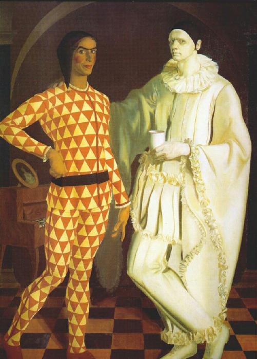 20 Шухаев В.И. и Яковлев А.Е. (автопортреты Арлекин и Пьеро, 1914) (501x700, 397Kb)