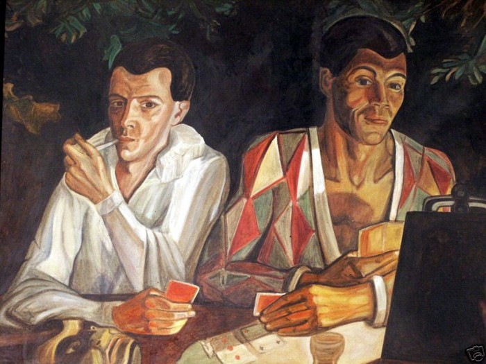 25 1927 Harlequin and Pierrot, double self-portrait - Сергей Судейкин (700x525, 100Kb)