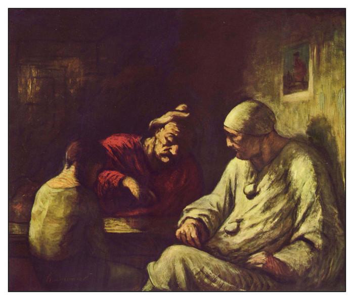 27 О.Домье. Отдых комедиантов. 1860-е годы (700x594, 113Kb)