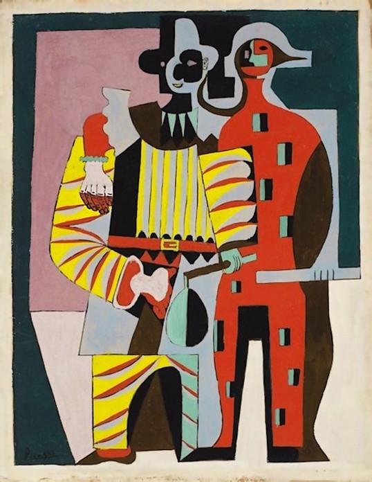 29 Pablo-Picasso Pierrot-et-Аrlequin 1920 (538x696, 113Kb)