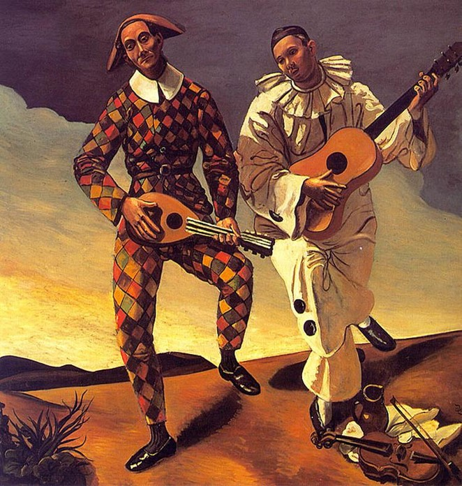 31 Harlequin and Pierrot - Andre Derain (662x696, 154Kb)