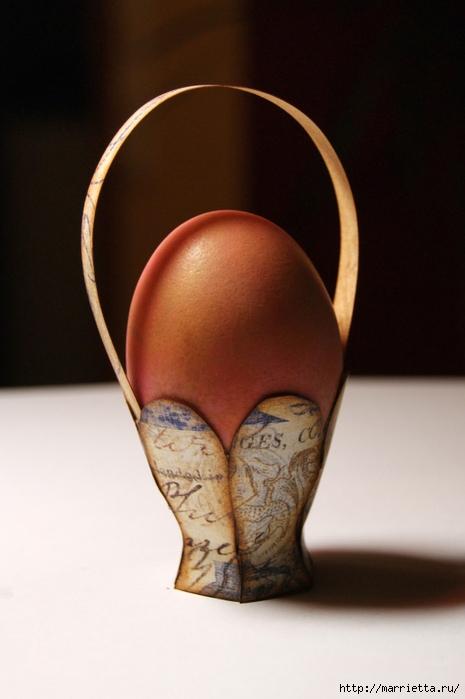 корзинки из бумаги для пасхальных яиц (7) (465x699, 190Kb)