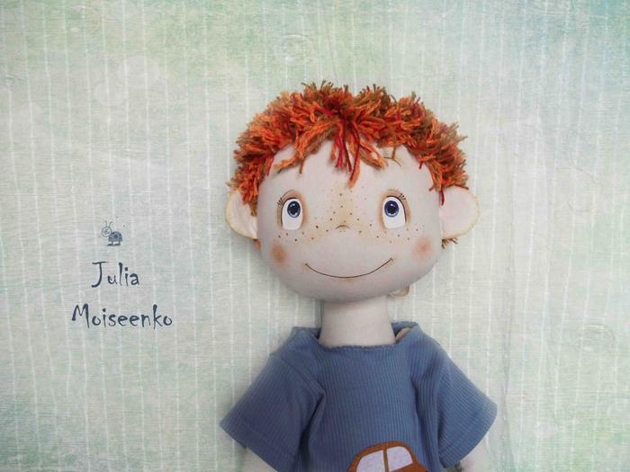 Как сделать кукле волосы мальчик
