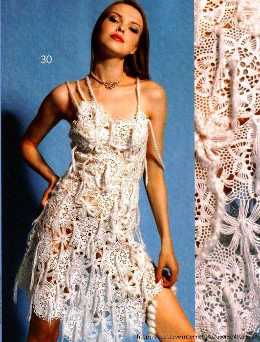 Платье-сарафан из мотивов