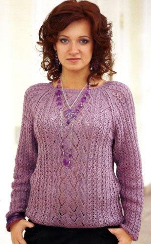 вязание свитер реглан - Самое