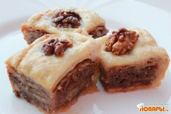 Рецепт приготовления пахлавы с грецкими орехами