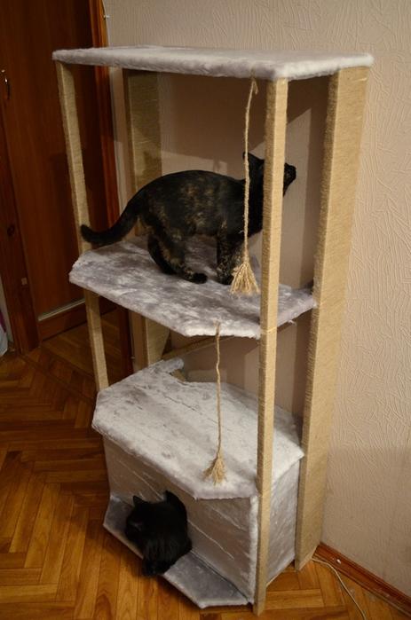 выкройка для кошачьего домика<br />